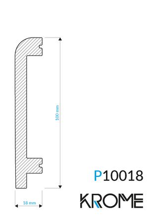 Biała listwa przypodłogowa P 10018 (1)