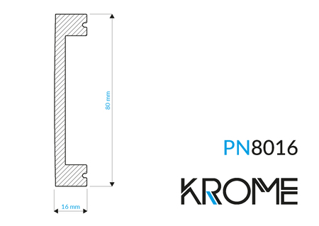 Biała listwa ścienna PN 8016 (1)