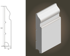 Biała listwa OLIMP 120 wilgocioodporna  (3)